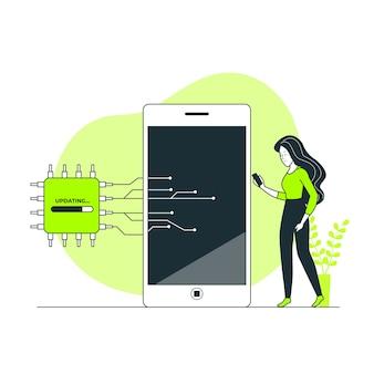Ilustración del concepto de firmware
