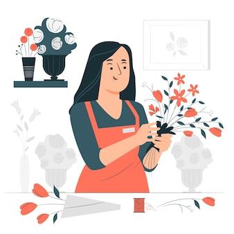 Ilustración del concepto de floristería
