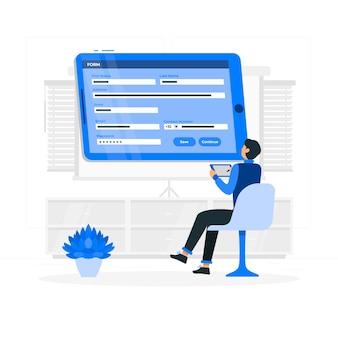Ilustración del concepto de formularios