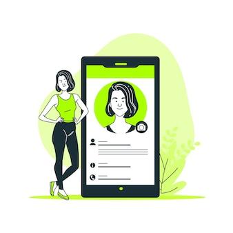 Ilustración del concepto de la foto de perfil