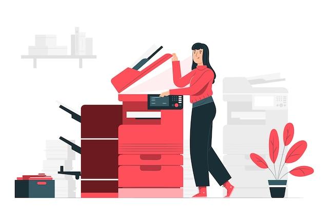 Ilustración del concepto de fotocopia