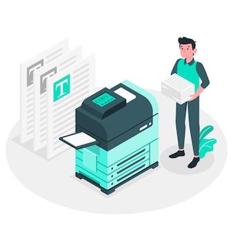 Ilustración del conceptode fotocopia