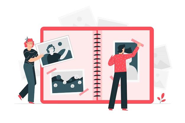 Ilustración del concepto de fotos