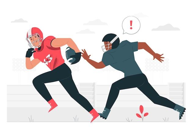 Ilustración del concepto de fútbol americano