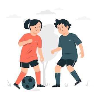 Ilustración de concepto de fútbol junior