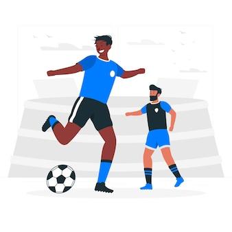 Ilustración del concepto de fútbol