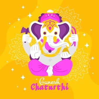 Ilustración del concepto de ganesh chaturthi