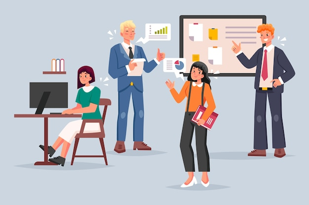 Ilustración de concepto de gente de negocios