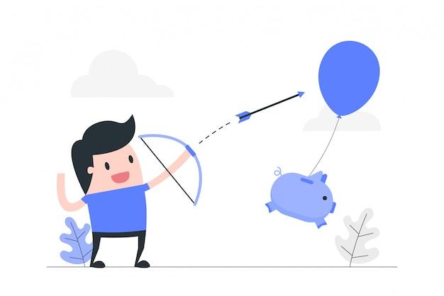 Ilustración de concepto de gestión de riesgos y seguros.