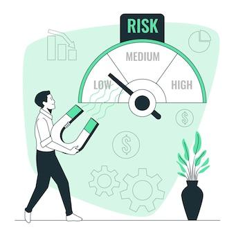 Ilustración del concepto de gestión de riesgos