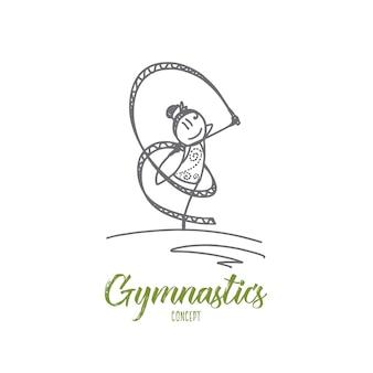 Ilustración del concepto de gimnasia
