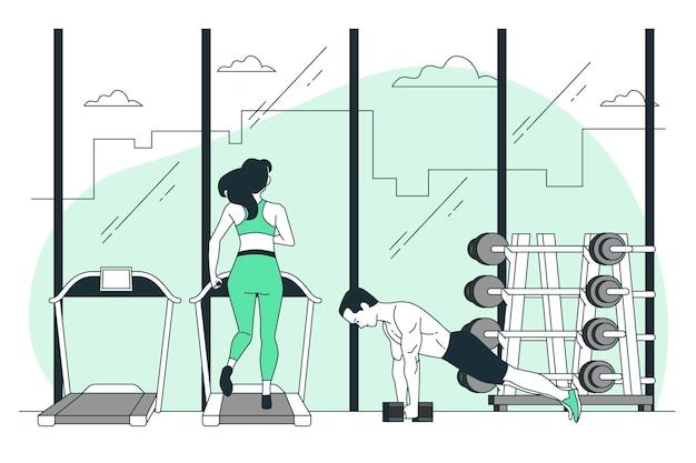 Ilustración del concepto de gimnasio
