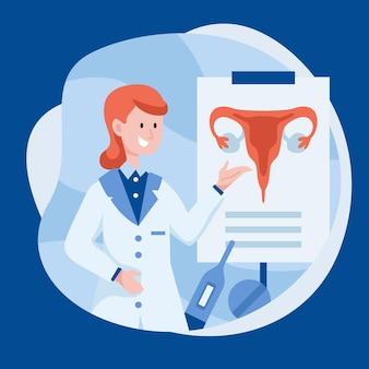 Ilustración del concepto de ginecología