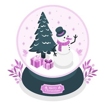 Ilustración de concepto de globo de bola de nieve
