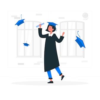 Ilustración de concepto de graduación