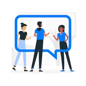 Ilustración del concepto de grupo de chat