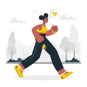Ilustración de concepto de hábito saludable