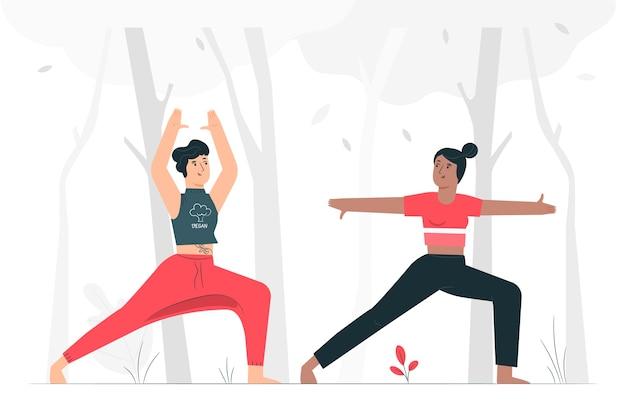 Ilustración de concepto hábito saludable