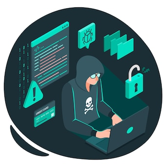 Ilustración del concepto de hacker