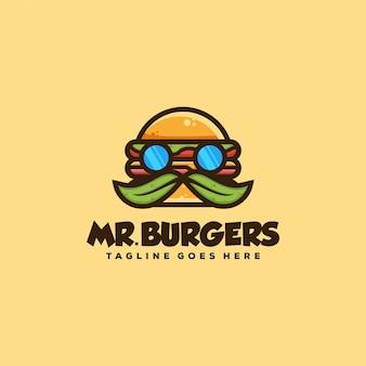 Ilustración del concepto de hamburguesa