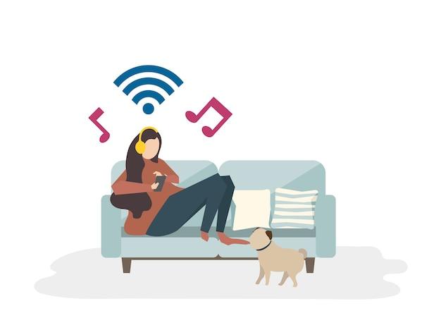 Ilustración del concepto de hobby avatar