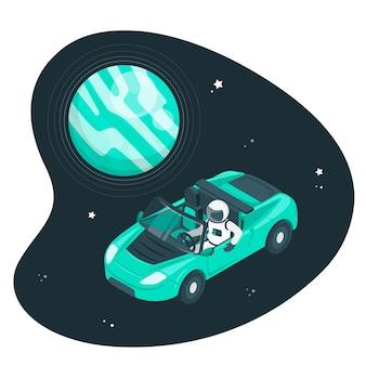 Ilustración de concepto de hombre del espacio