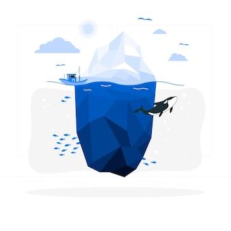 Ilustración del concepto de iceberg