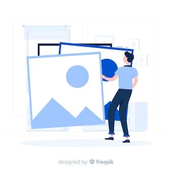 Ilustración del concepto de imágenes