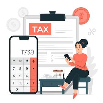 Ilustración del concepto de impuestos