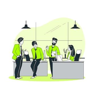 Ilustración del concepto de incorporación