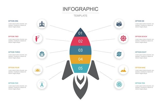 Ilustración de concepto de infografías creativas de inicio