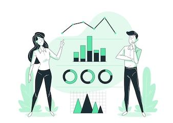 Ilustración del concepto de infografías