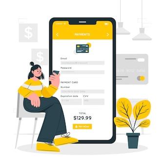 Ilustración del concepto de información de pago