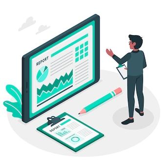 Ilustración del concepto de informe