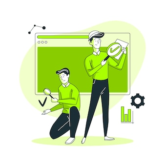 Ilustración del concepto deingenieros de control de calidad