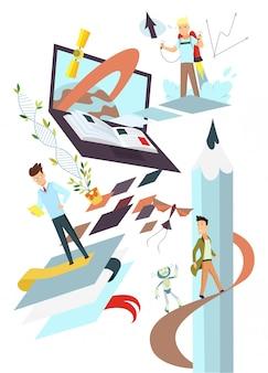Ilustración de concepto de inicio