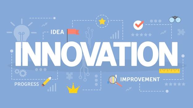Ilustración del concepto de innovación.