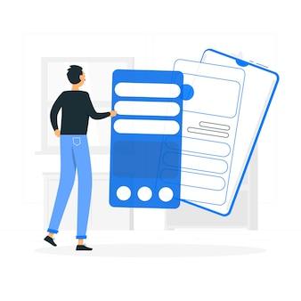 Ilustración de concepto instalación app
