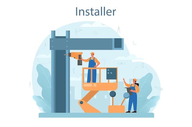 Ilustración del concepto de instalador
