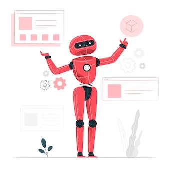 Ilustración de concepto inteligencia artificial