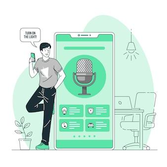 Ilustración del concepto de interfaz de voz
