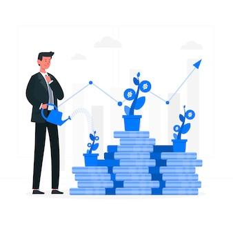 Ilustración del concepto de inversión