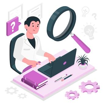 Ilustración del concepto de investigación
