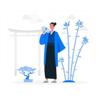 Ilustración del concepto de japón