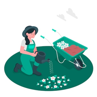 Ilustración del concepto de jardinería