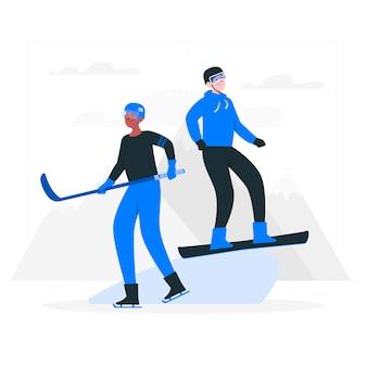 Ilustración del concepto de juegos de invierno