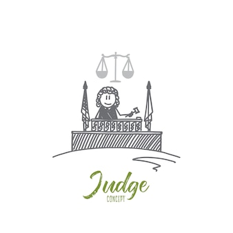 Ilustración del concepto de juez