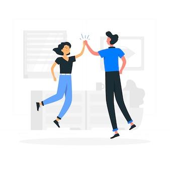 Ilustración de concepto de juntos