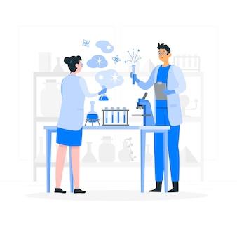 Ilustración del concepto de laboratorio