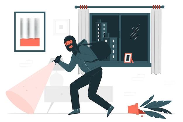 Ilustración del concepto de ladrón